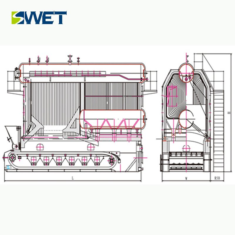 Industrial 30t/h Biomass / Coal SZL Steam boiler